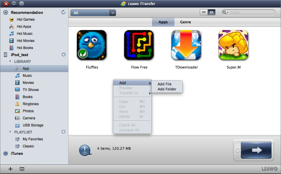 Leawo iTransfer for Mac User Guide: Transfer Files Among iPhone/iPad/iPod,  iTunes and Mac