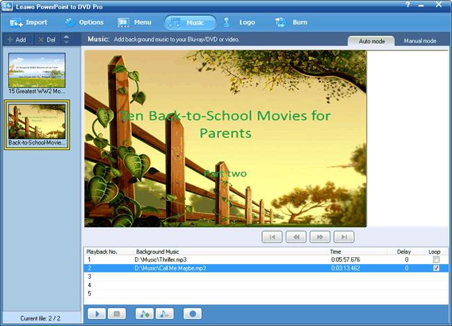 Ajouter de la musique de fond pour PowerPoint