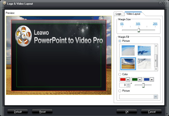 Definir o layout de saída de vídeo
