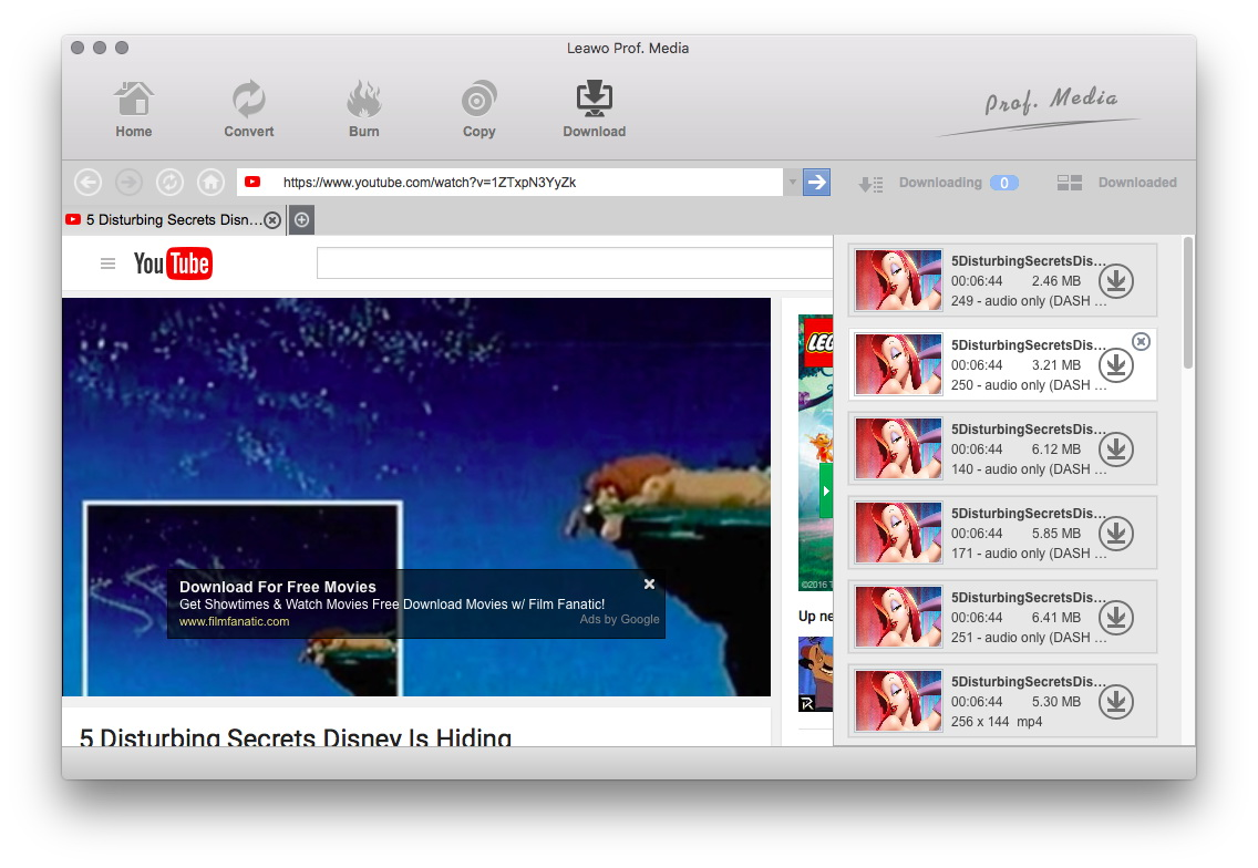 downloading video from youtube using mac
