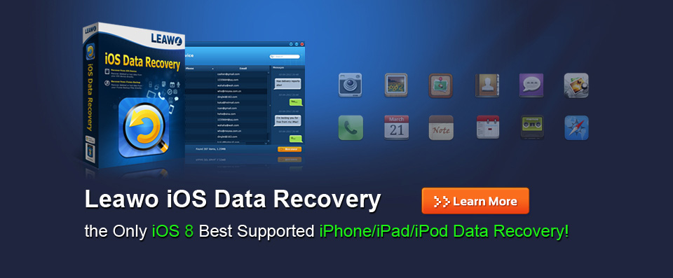 Leawo iOS Data Recovery - Bedste iPod, iPad og iPhone Data Recovery Software