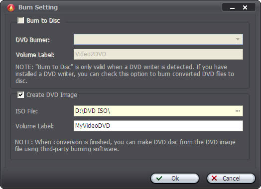 Create DVD from Videos