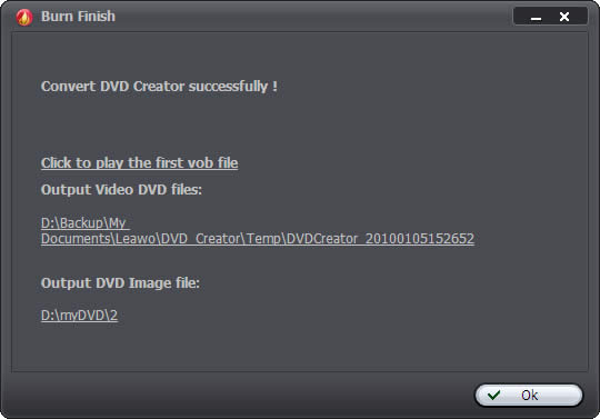 Finish DVD Creation