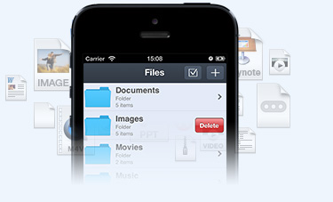 Multifuncional iPhone Administrador de archivos