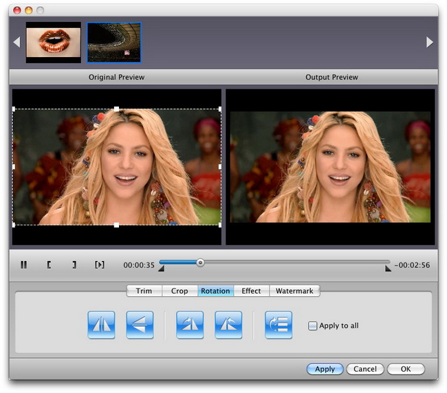 Add watermark for Mac AVI to WMV conversion