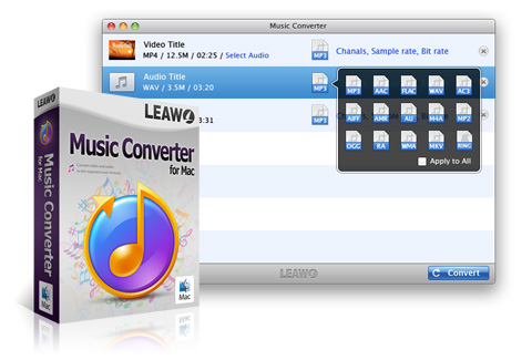 Leawo Music converter for Mac