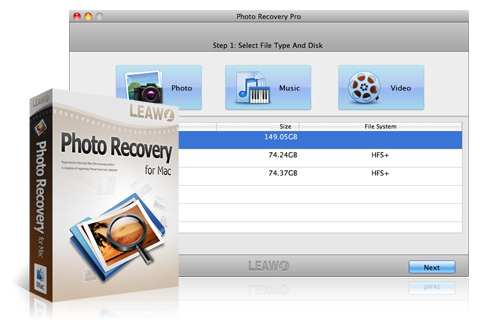 Leawo Photo Recovery para Mac