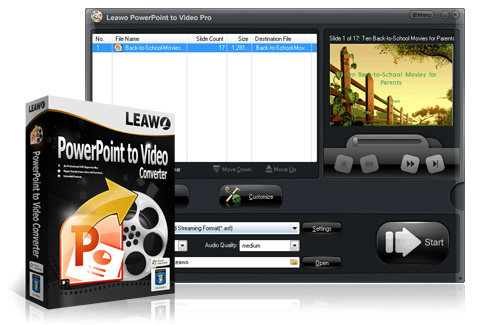 Leawo PowerPoint til Video Pro