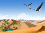 Libero Scenery PowerPoint Template: Sand Yellow