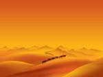 Paysage gratuit Modèle PowerPoint: Bells de chameau
