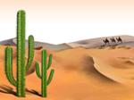 Cenário Free PowerPoint Template: Desert