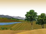 Libero Scenery PowerPoint Template: rurale