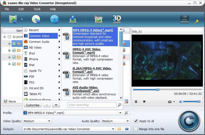Leawo Blu-ray + HD Video Converter Suite Software Discs & HD to AVI MP4 MKV 3D
