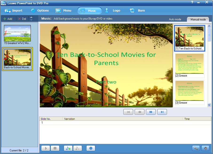 Leawo PowerPoint to DVD Pro Screenshot