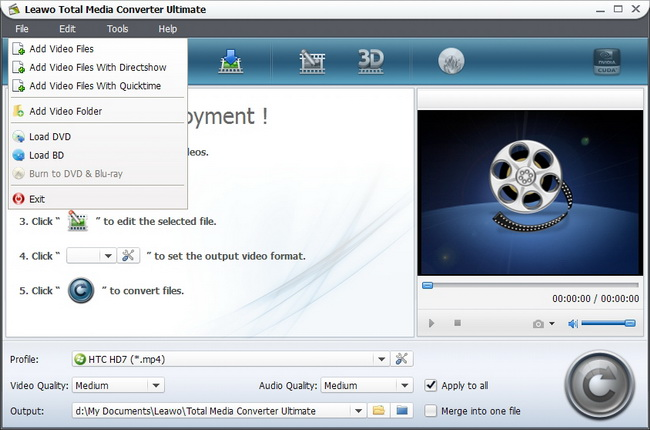 Leawo Total Media Converter Ultimate Screenshot