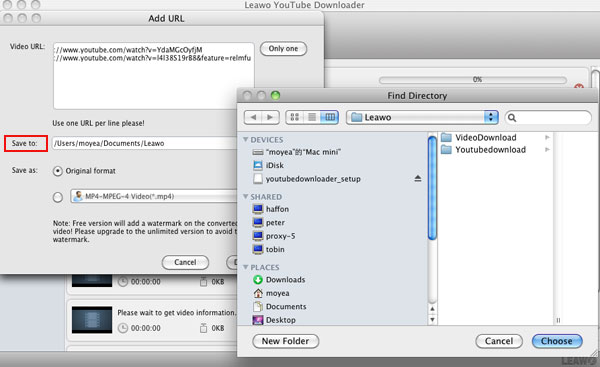 Leawo YouTube Downloader for Mac Screenshot