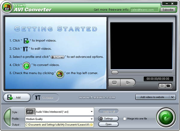 Leawo AVI Converter Pro