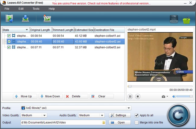 MKV to AVI Video Converter