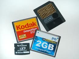 Cartão de memória da câmera