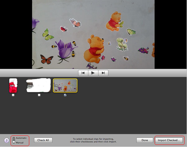 how to bring a video into imovie