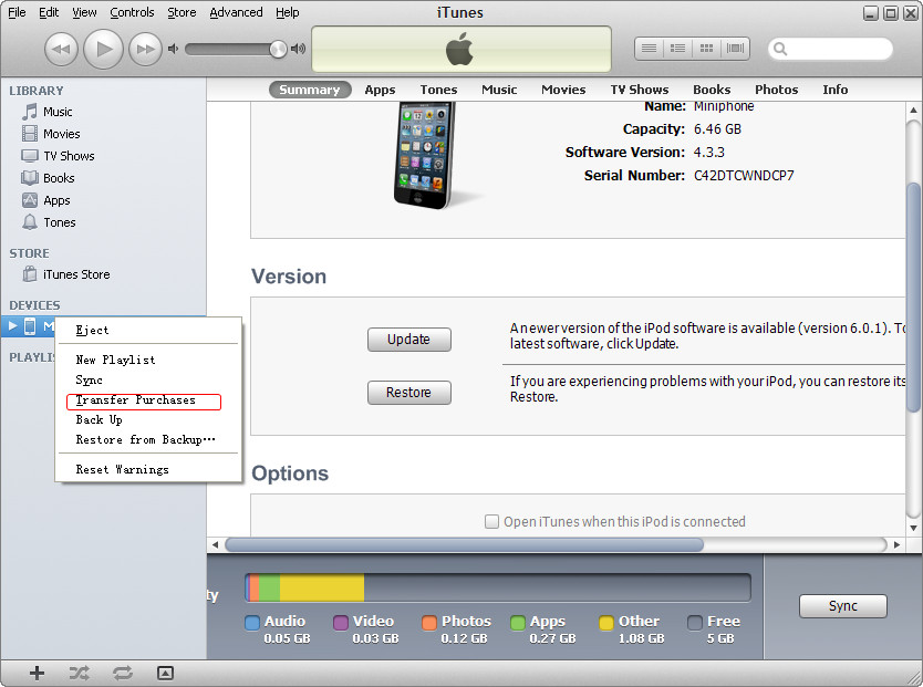 How to Transfer Music from iPhone 5 to iPod touch 5