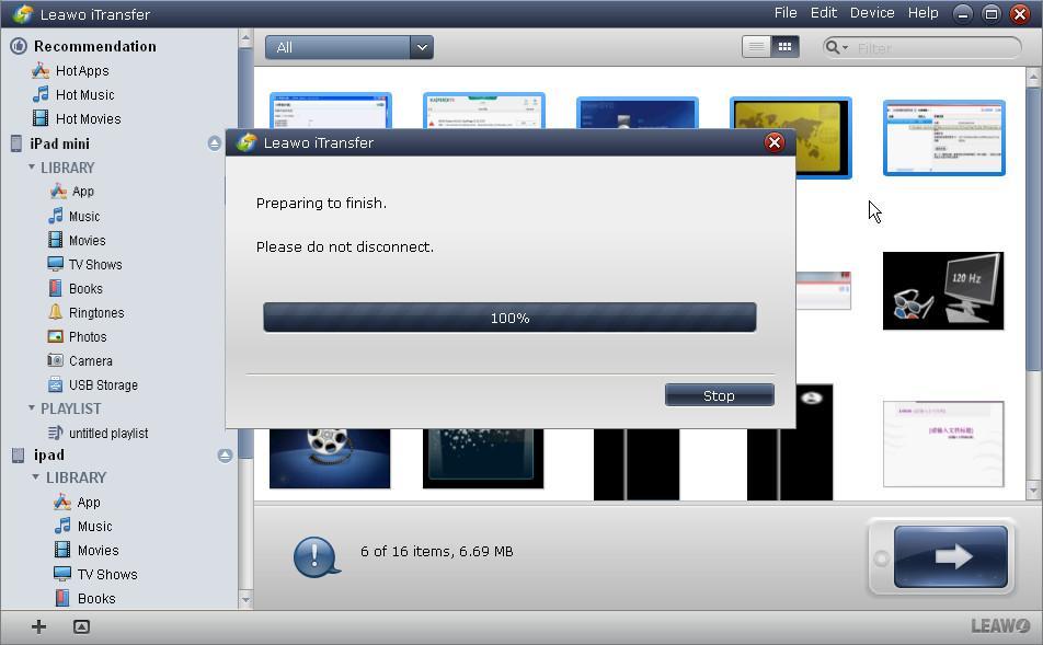 ipad mini transfer to pc application