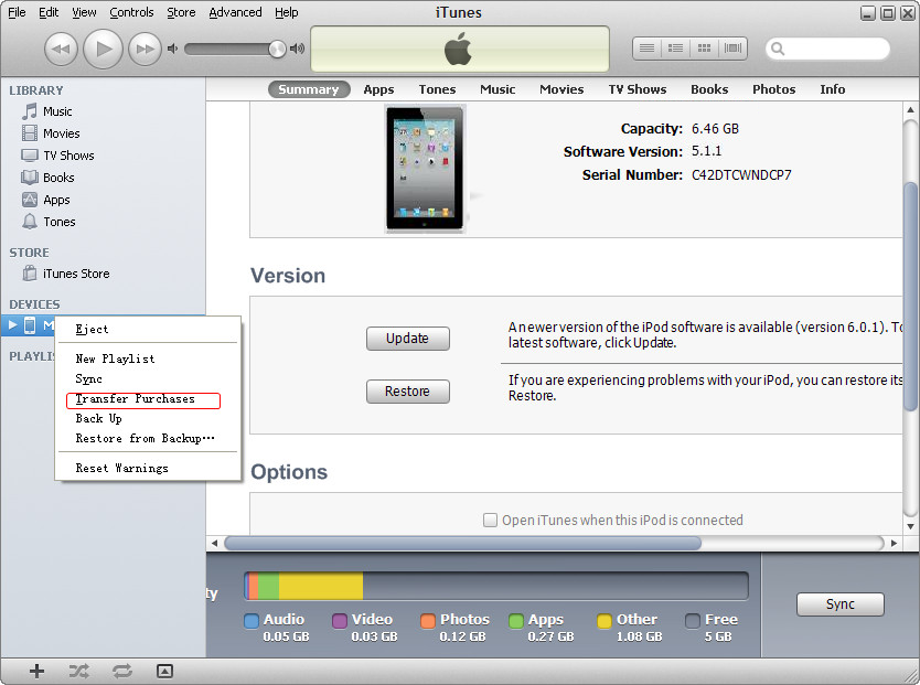 how to download songs from ipod touch to computer