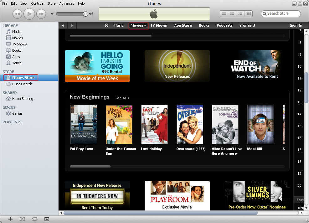 how to watch itunes movies on iphone