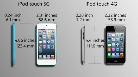 iPod touch 4 and iPod touch 5