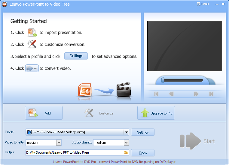 launch Leawo PowerPoint to Video Free edition