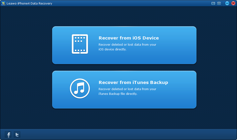 Choose recovery mode for iPhone 4