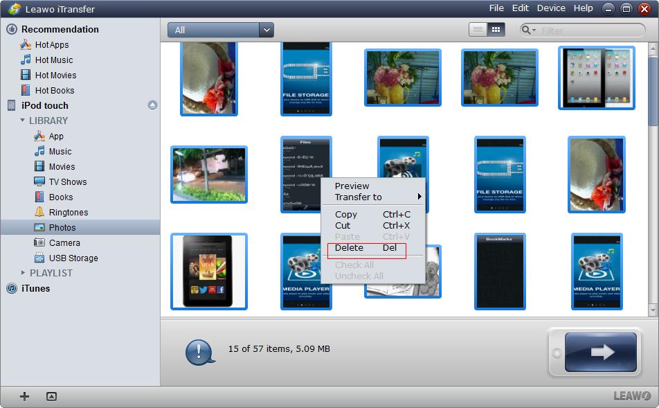Selecionar arquivos e Right Click