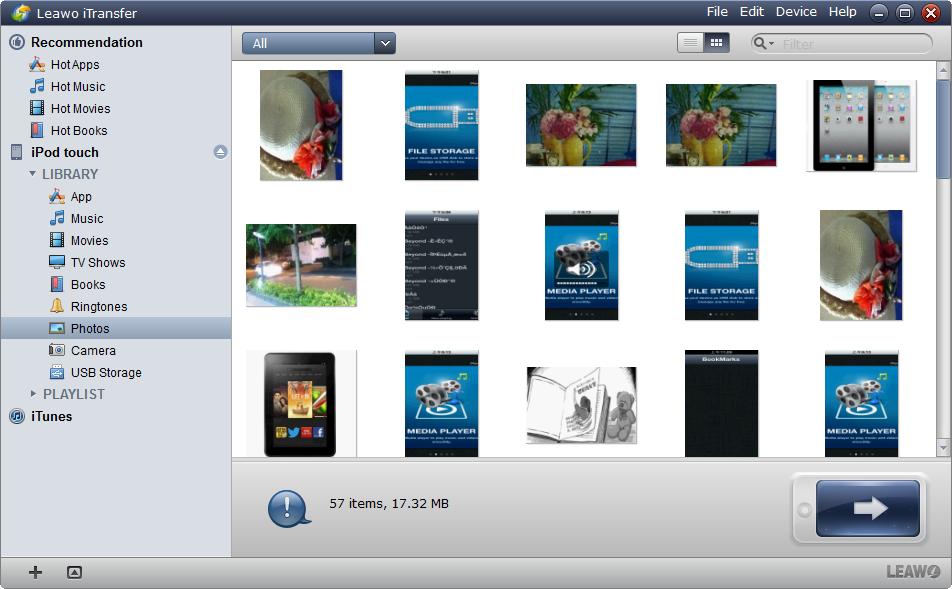 Executar Leawo iTransfer e Ligação iPod