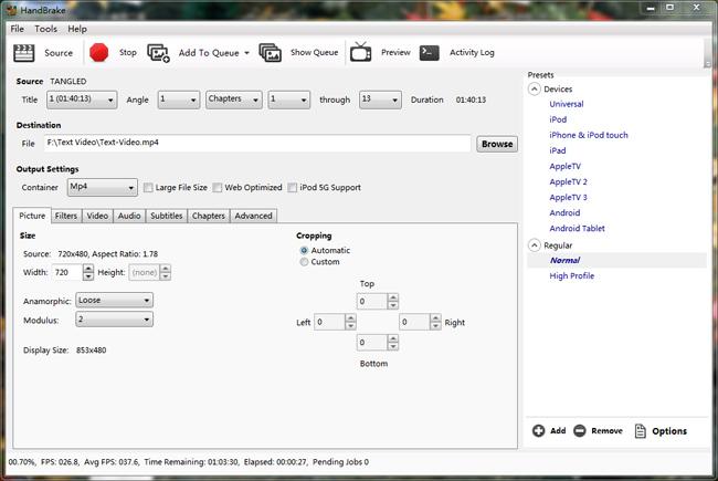 Konvertera vob till mp4 gratis windows 7