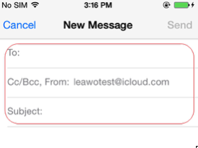 Write your own Email address