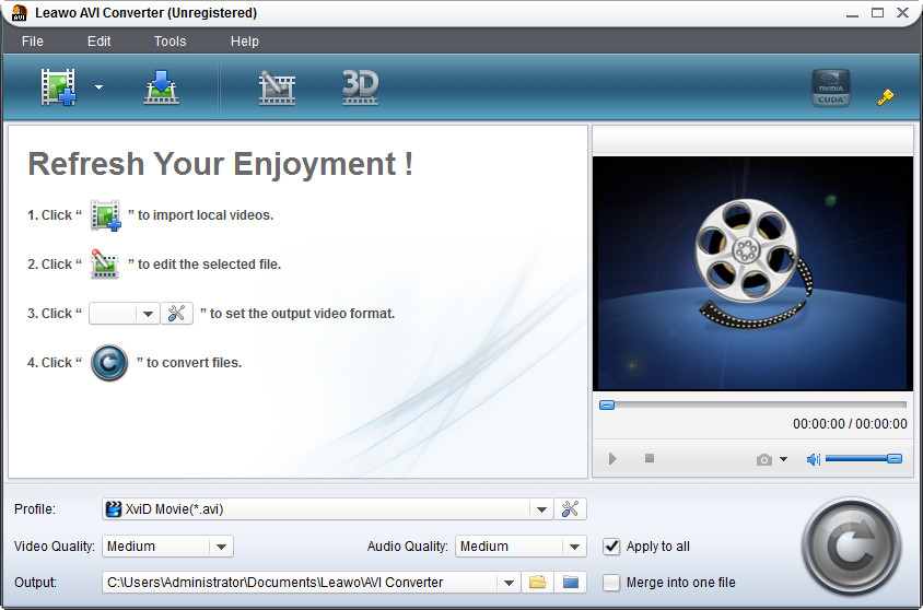 Click to view Leawo AVI Converter Pro 5.0.0.0 screenshot
