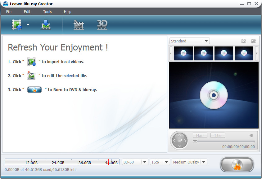 Click to view Leawo Blu-ray Creator screenshots