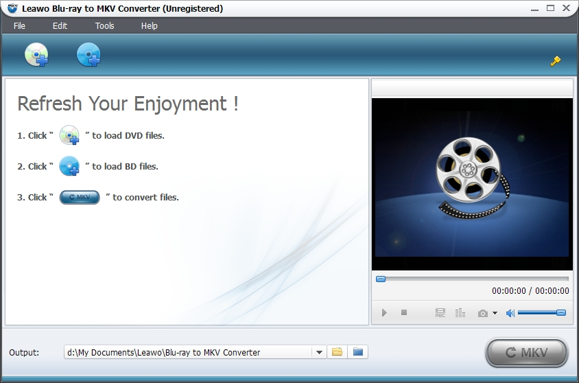 Click to view Leawo Blu-ray to MKV Converter 2.0.0.0 screenshot