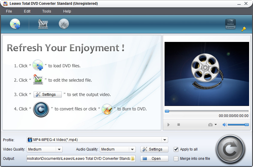 Click to view Leawo Easy DVD Converter Suite 3.0.0.3 screenshot