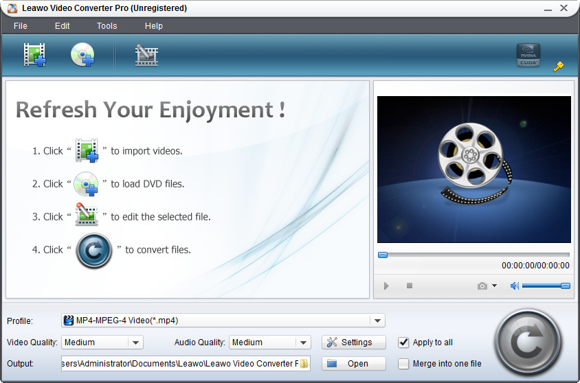 Click to view Leawo Easy Media Converter Suite 3.0.0.3 screenshot