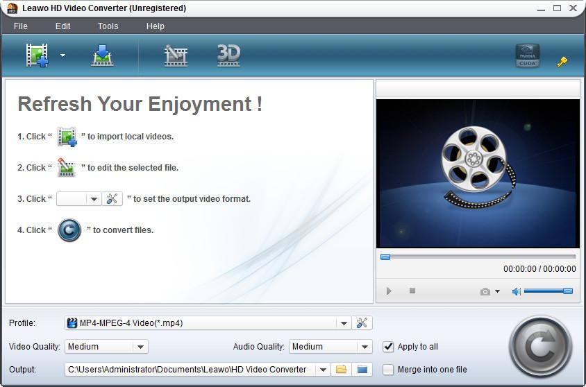 Windows 7 Leawo HD Video Converter 5.4.0.0 full