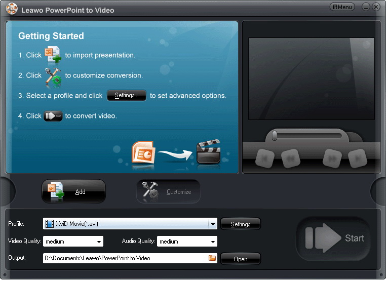 Leawo PowerPoint to Video Pro, convert PowerPoint to video, PPT to