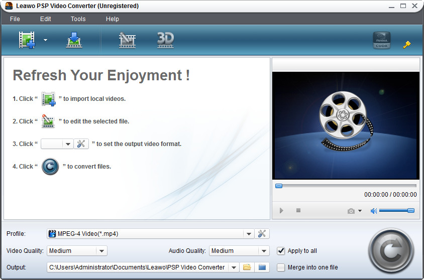 Click to view Leawo PSP Converter Pro 5.1.0.0 screenshot