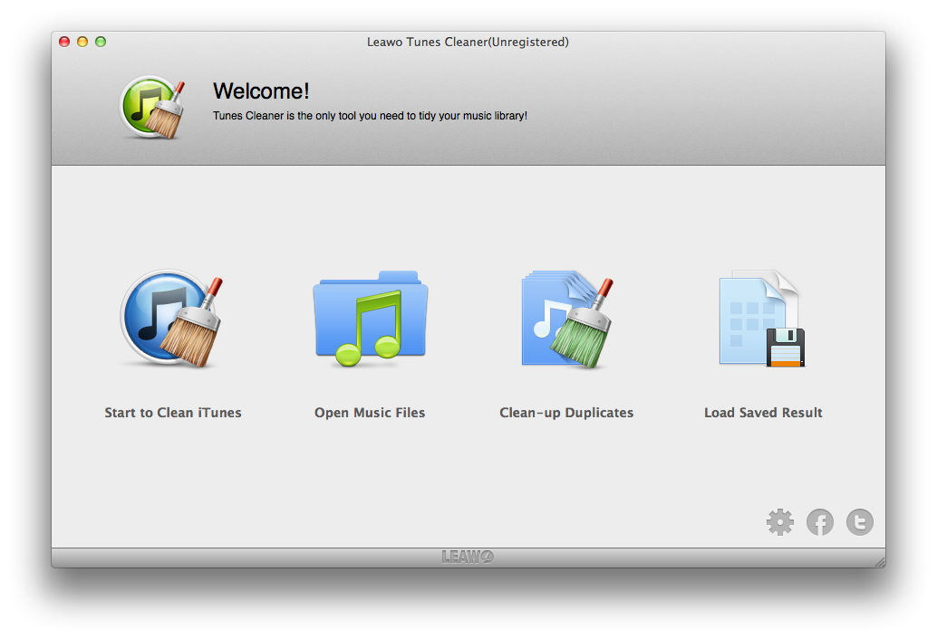 Leawo Tunes Cleaner for Mac Screen shot