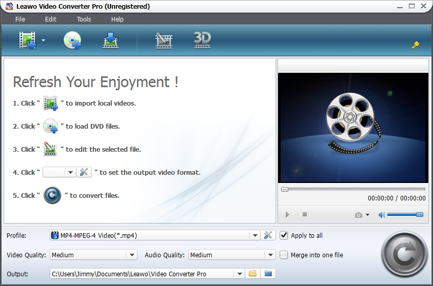Convert DVD, video to nearly any video/audio.