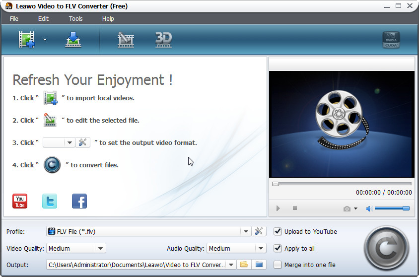Leawo Video to FLV Converter screenshot