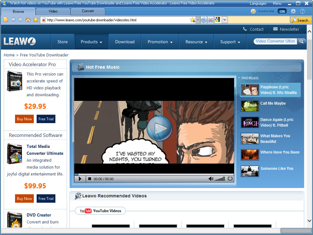 Click to view Leawo Free YouTube Downloader 4.6.0.0 screenshot